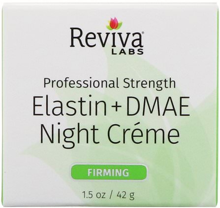 Elastin + DMAE Night Creme, 1.5 oz (42 g) by Reviva Labs, 補品,dmae,皮膚,彈性蛋白 HK 香港