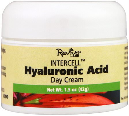 InterCell, Hyaluronic Acid Day Cream, 1.5 oz. (42 g) by Reviva Labs, 美容,面部護理,面霜,乳液,健康,皮膚,面霜日 HK 香港