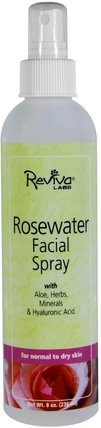 Rosewater Facial Spray, for Normal to Dry Skin, 8 oz (236 ml) by Reviva Labs, 美容,面部調理,面部護理,皮膚類型正常至乾性皮膚 HK 香港