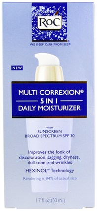Multi Correxion 5 In 1 Daily Moisturizer, SPF 30, 1.7 fl oz (50 ml) by RoC, 美容,面部護理,面霜,乳液 HK 香港