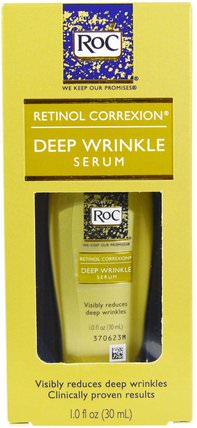 Retinol Correxion, Deep Wrinkle Serum, 1.0 fl oz (30 ml) by RoC, 美容,面部護理,面霜,乳液 HK 香港