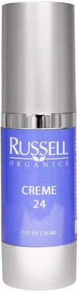 Creme 24, 1 fl oz (30 ml) by Russell Organics, 美容,面部護理,面霜,乳液 HK 香港