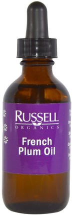 French Plum Oil, 2 fl oz (60 ml) by Russell Organics, 健康,皮膚,沐浴,美容油,身體護理油 HK 香港