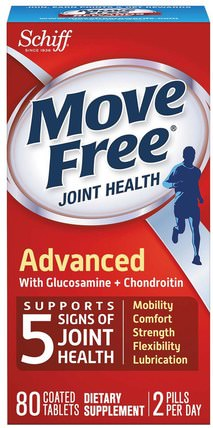 Move Free, Joint Health, 80 Coated Tablets by Schiff, 健康,骨骼,骨質疏鬆症,關節健康,希夫移動 HK 香港