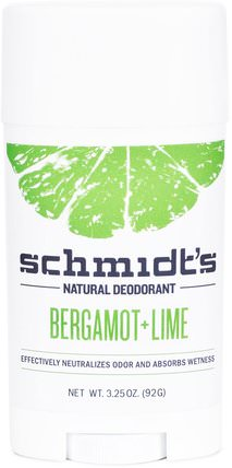 Bergamot + Lime, 3.25 oz (92 g) by Schmidts Natural Deodorant, 洗澡,美容,除臭劑 HK 香港
