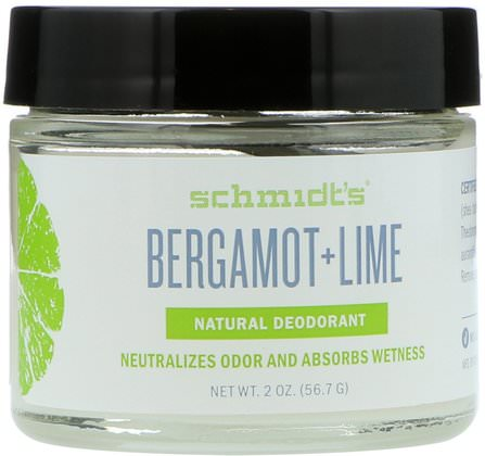 Bregamot + Lime, 2 oz (56.7 g) by Schmidts Natural Deodorant, 洗澡,美容,除臭劑 HK 香港