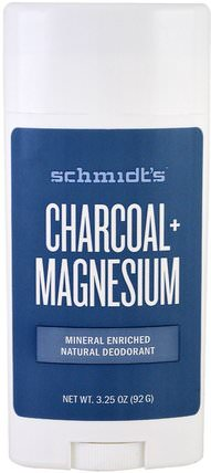 Charcoal + Magnesium, 3.25 oz (92 g) by Schmidts Natural Deodorant, 洗澡,美容,除臭劑 HK 香港