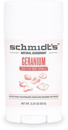 Sensitive Skin Formula, Geranium, 3.25 oz (92 g) by Schmidts Natural Deodorant, 洗澡,美容,除臭劑 HK 香港
