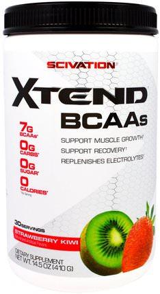 Xtend, BCAAs, Strawberry Kiwi, 14.5 oz (410 g) by Scivation, bcaa(支鏈氨基酸),運動,鍛煉 HK 香港