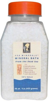 Mineral Bath from the Dead Sea, 1 lb (453 g) by Sea Minerals, 洗澡,美容,浴鹽 HK 香港