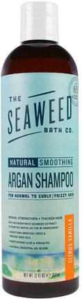 Natural Smoothing Argan Shampoo, Citrus Vanilla, 12 fl oz (360 ml) by Seaweed Bath Co., 洗澡,美容,摩洛哥堅果洗髮水,頭髮,頭皮,洗髮水,護髮素 HK 香港