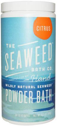 Seaweed Bath Co., Wildly Natural Seaweed Powder Bath, Citrus, 16.8 oz (476 g) 洗澡,美容,摩洛哥浴鹽,浴鹽