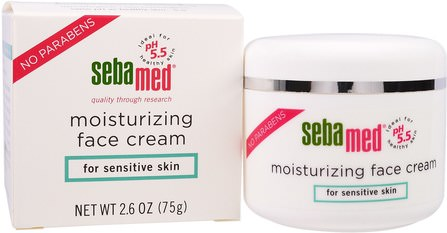 Moisturizing Face Cream, 2.6 oz (75 g) by Sebamed USA, 美容,面部護理,面霜乳液,精華素,皮膚型酒渣鼻,敏感肌膚 HK 香港