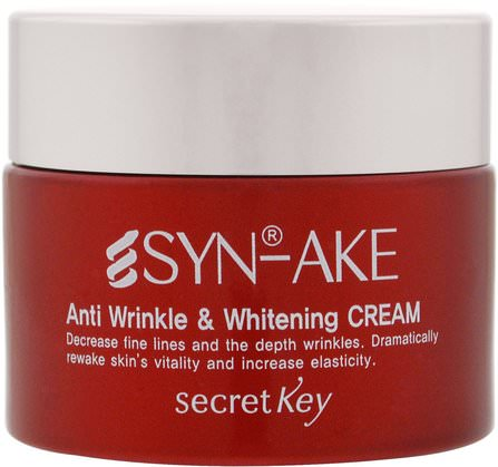 Anti Wrinkle & Whitening Cream, 1.76 ml (50 g) by Secret Key, 美容,面部護理,面霜,乳液,皺紋霜 HK 香港