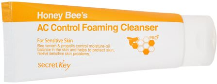 Honey Bees AC Control Foaming Cleanser, 150 ml by Secret Key, 洗澡,美容,面部護理,洗面奶 HK 香港