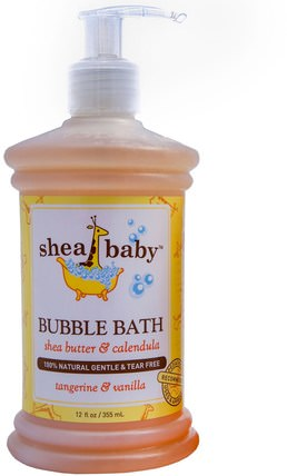 Bubble Bath, Tangerine & Vanilla, 12 fl oz (355 ml) by Shea Baby Shea Mama, 洗澡,美容,泡泡浴,兒童健康 HK 香港