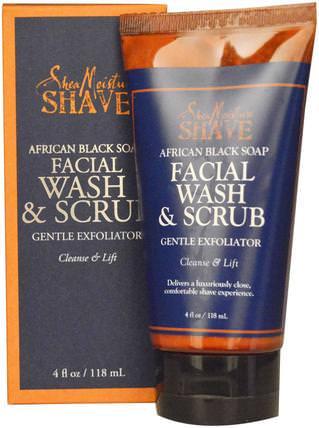 African Black Soap Facial Wash & Scrub, 4 fl oz (118 ml) by Shea Moisture, 美容,水楊酸,面部去角質 HK 香港