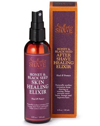Shave for Women, After Shave Healing Elixir, Honey & Black Seed, 4 fl oz (118 ml) by Shea Moisture, 洗澡,美容,剃須,剃須後 HK 香港