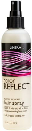Color Reflect, Maximum Hold Hair Spray, 8 fl oz (237 ml) by Shikai, 洗澡,美容,頭髮,頭皮,自然髮膠 HK 香港