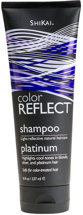 Color Reflect, Shampoo, Platinum, 8 fl oz (237 ml) by Shikai, 洗澡,美容,頭髮,頭皮,洗髮水 HK 香港
