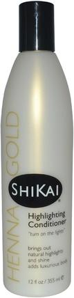 Henna Gold, Highlighting Conditioner, 12 fl oz (355 ml) by Shikai, 洗澡,美容,頭髮,頭皮,頭髮的顏色,頭髮護理 HK 香港