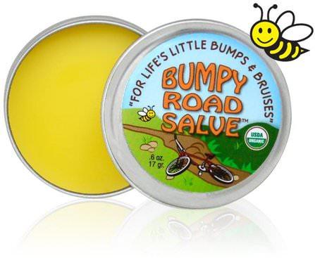 Bumpy Road Salve.6 oz (17 g) by Sierra Bees, 美容,面部護理,麥盧卡蜂蜜護膚,皮膚 HK 香港