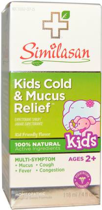 Kids Cold & Mucus Relief, 4 fl oz (118 ml) by Similasan, 兒童健康,感冒感冒咳嗽 HK 香港