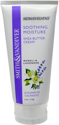 Aromatherapaes, Shea Butter Cream, Neroli & Lavender, 6 oz (170 g) by Smith & Vandiver, 洗澡,美容,乳木果油 HK 香港