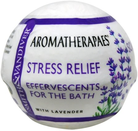 Effervescents For The Bath, Stress Relief, 2.8 oz (80 g) by Smith & Vandiver, 洗澡,美容,浴鹽 HK 香港