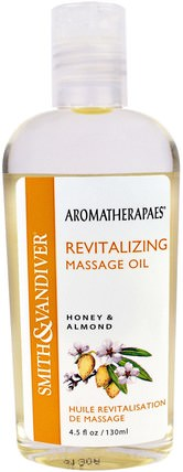 Revitalizing Massage Oil, Honey & Almond, 4.5 fl oz (130 ml) by Smith & Vandiver, 健康,皮膚,杏仁油外用,按摩油 HK 香港