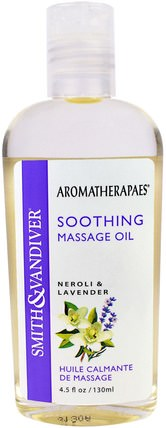 Soothing Massage Oil, Neroli & Lavender, 4.5 fl oz (130 ml) by Smith & Vandiver, 健康,心情,皮膚,按摩油 HK 香港