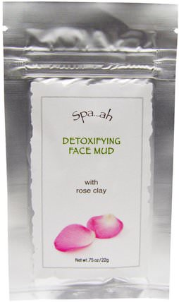 Spa.ah, Detoxifying Face Mud With Rose Clay.75 oz (22 g) by Smith & Vandiver, 美容,面膜,泥面膜,健康,排毒,粘土 HK 香港