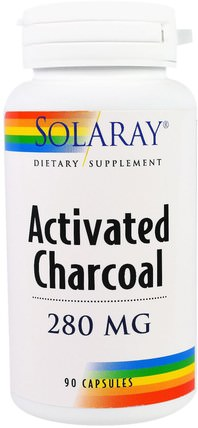 Activated Charcoal, 280 mg, 90 Capsules by Solaray, 健康 HK 香港