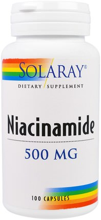 Niacinamide, 500 mg, 100 Capsules by Solaray, 維生素,維生素B,維生素b3,菸酸沖洗 HK 香港