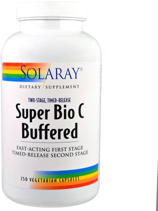 Super Bio C Buffered, 250 Vegetarian Capsules by Solaray, 維生素,維生素c,維生素C緩衝 HK 香港
