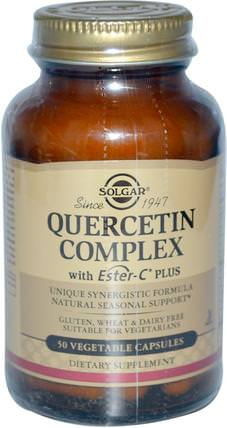 Quercetin Complex, with Ester-C Plus, 50 Vegetable Capsules by Solgar, 補充劑,抗氧化劑,槲皮素 HK 香港