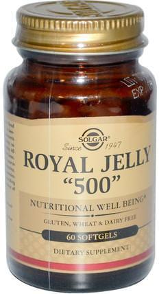 Royal Jelly 500, 60 Softgels by Solgar, 補充劑,蜂產品,蜂王漿 HK 香港