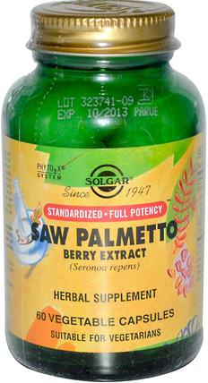 Saw Palmetto Berry Extract, 60 Vegetable Capsules by Solgar, 健康,男人 HK 香港
