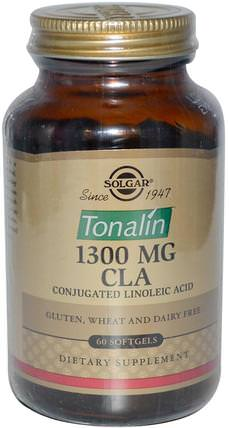 Tonalin CLA, 1300 mg, 60 Softgels by Solgar, 減肥,飲食,cla(共軛亞油酸),cla HK 香港