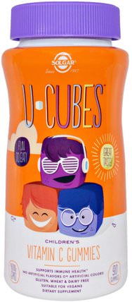 U-Cubes, Childrens Vitamin C Gummies, 90 Gummiues by Solgar, 兒童健康,補充兒童,維生素C,維生素C gummies HK 香港