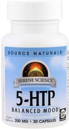 Source Naturals, 5-HTP, 200 mg, 30 Capsules 補充劑,5-htp