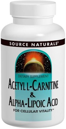 Acetyl L-Carnitine & Alpha Lipoic Acid, 650 mg, 60 Tablets by Source Naturals, 補充劑,抗氧化劑,α硫辛酸 HK 香港