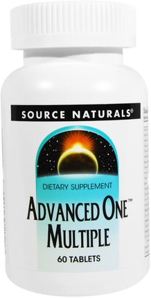 Source Naturals, Advanced One Multiple, 60 Tablets 維生素,多種維生素