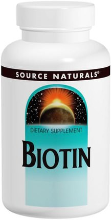 Biotin, 600 mcg, 200 Tablets by Source Naturals, 維生素,維生素B,生物素 HK 香港