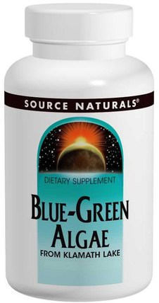 Blue-Green Algae, 200 Tablets by Source Naturals, 補品,超級食品,各種藍綠藻 HK 香港