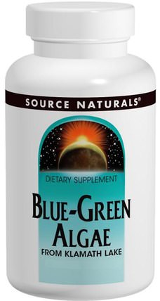 Blue-Green Algae Powder, 4 oz (113.4 g) by Source Naturals, 補品,超級食品,各種藍綠藻 HK 香港