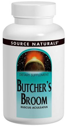 Butchers Broom, 500 mg, 250 Tablets by Source Naturals, 草藥,屠夫掃帚 HK 香港