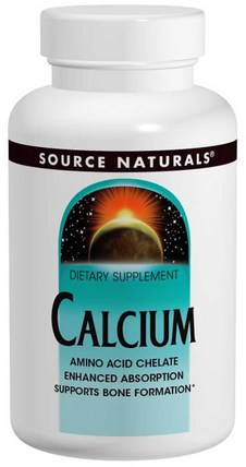 Calcium, 250 Tablets by Source Naturals, 補品,礦物質,鈣螯合物 HK 香港