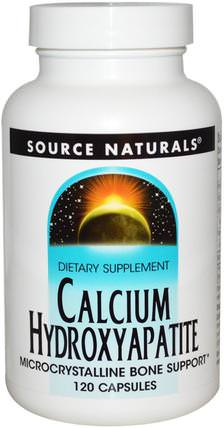 Calcium Hydroxyapatite, 120 Capsules by Source Naturals, 補充劑,礦物質,羥基磷灰石鈣 HK 香港