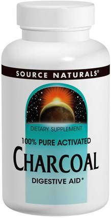 Charcoal, 260 mg, 200 Capsules by Source Naturals, 補品,礦物質,活性炭 HK 香港